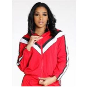 Victoria's Secret Pink Perfect Aronak Full Zip Red